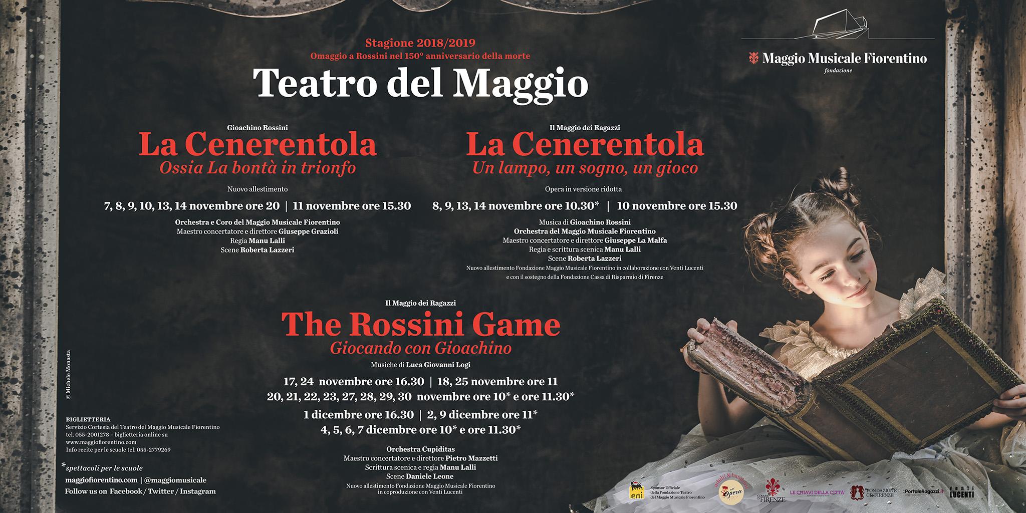 All'Opera con tre spettacoli di Rossini