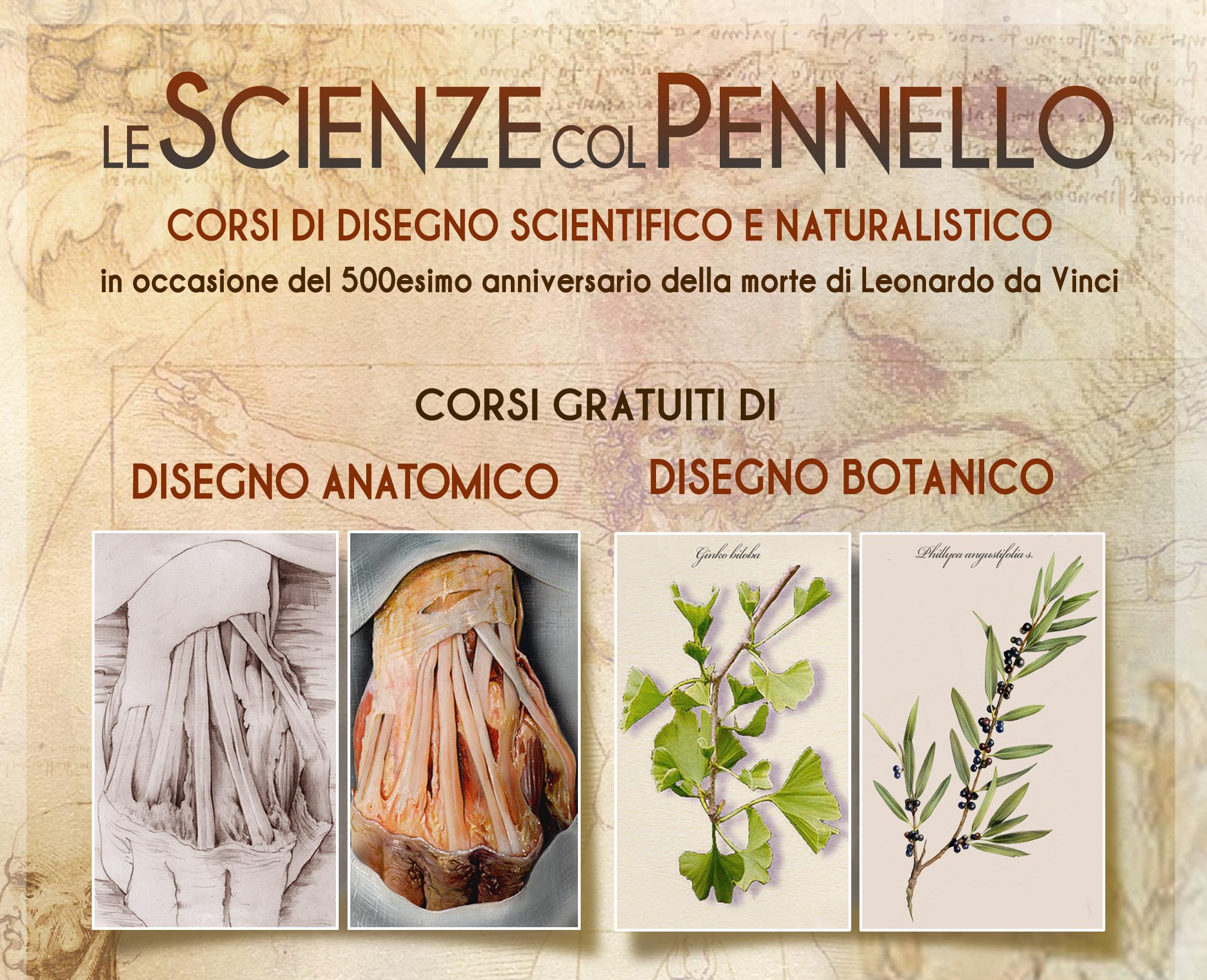 Le scienze con il Pennello: corso di disegno anatomico e botanico