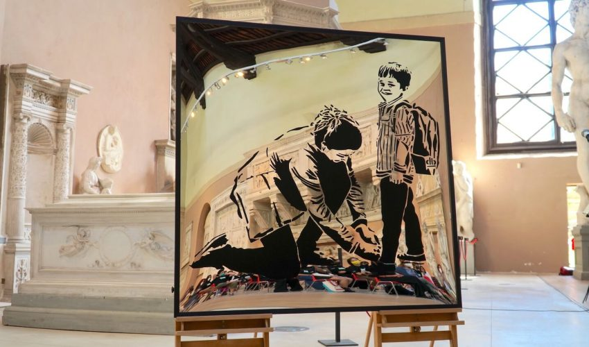 'Non sono un murales', l'opera degli studenti del Liceo Artistico di Porta Romana