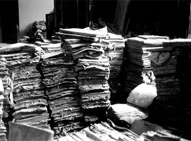 Dopo l'alluvione: gli effetti all'Archivio di Stato