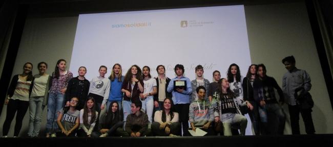 Foto di gruppo durante l'evento finale