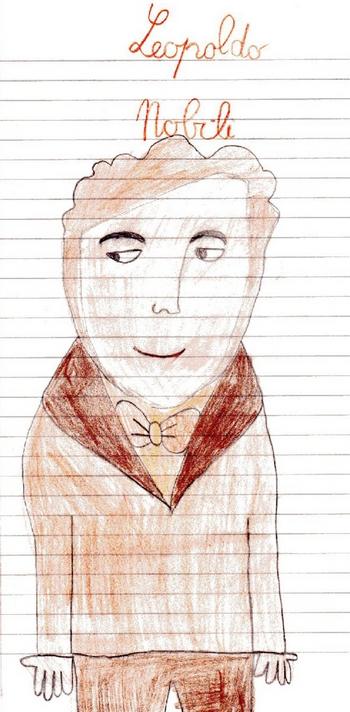 Ritratto di Leopoldo Nobili disegnato da un alunno