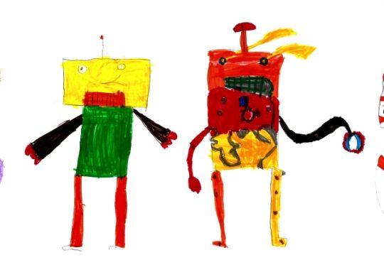 I robot disegnati dagli alunni della classe 1^B Sauro (FI)